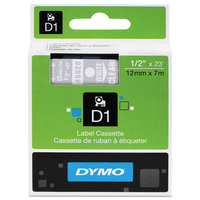 DYMO D1 Standard 12mm x 7m D1 label-making tape