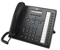 Cisco Unified 6961 Wired handset Black IP phone