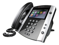 Polycom VVX 600 DECT telephone Black, White