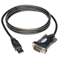 Tripp Lite U209-000-R 1.52m USB A DB9 Black,White serial cable