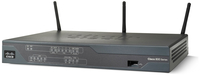 Cisco 881 Single-band (2.4 GHz) Fast Ethernet Black wireless router