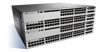 Cisco Catalyst WS-C3850-24P-E-RF Managed Gigabit Ethernet (10/100/1000) Power over Ethernet (PoE) Black,Grey network switch