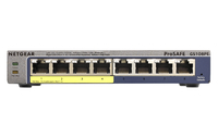 Netgear GS108PE Managed network switch Gigabit Ethernet (10/100/1000) Power over Ethernet (PoE) Black