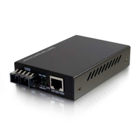 C2G 26633 1000Mbit/s Multi-mode Black network media converter
