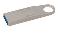 Kingston Technology DataTraveler SE9 G2 64GB 64GB USB 3.0 (3.1 Gen 1) Type-A Silver USB flash drive