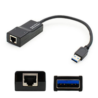 Add-On Computer Peripherals (ACP) 4X90E51405-AO-5PK USB RJ-45 Black cable interface/gender adapter