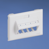 Panduit UIT70FH4WH White switch plate/outlet cover