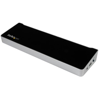 StarTech.com USB3DDOCKFT USB 3.0 (3.1 Gen 1) Type-B Black,Silver notebook dock/port replicator