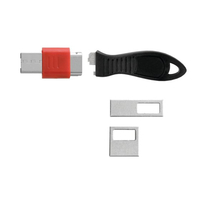 Kensington K67913WW Black,Red cable lock