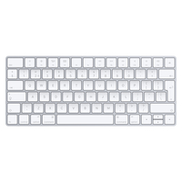 Apple MLA22 Bluetooth QWERTY Nederlands Zilver, Wit toetsenbord