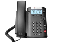 Polycom VVX 201 Black Wired handset 2lines LED IP phone