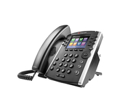 Polycom VVX 410 Skype for Business Wired handset 12lines TFT Black IP phone