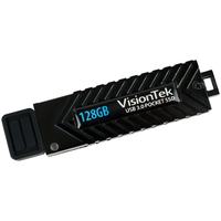 VisionTek 128GB USB 3.0 SSD Black USB flash drive