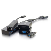 C2G 30004 USB-C RJ-45, HDMI, VGA, USB-A Black cable interface/gender adapter