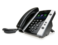 Polycom VVX 501 Wired handset 12lines TFT Black IP phone