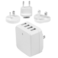 StarTech.com USB4PACWH Indoor White mobile device charger