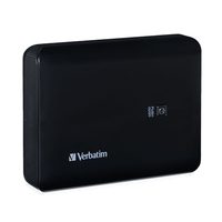 Verbatim 99208 Lithium-Ion (Li-Ion) 10400mAh Black power bank