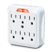 CyberPower GT600L NEMA 5-15P NEMA 5-15R White power plug adapter