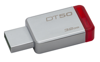 Kingston Technology DataTraveler 50 32GB 32GB USB 3.0 (3.1 Gen 1) Type-A Red,Silver USB flash drive