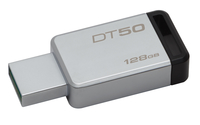 Kingston Technology DataTraveler 50 128GB 128GB USB 3.0 (3.1 Gen 1) Type-A Black,Silver USB flash drive
