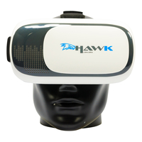 Salora VR Hawk Smartphonegebaseerd headmounted display 404g Zwart, Grijs, Wit