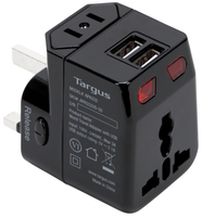 Targus APK032US Universal Universal Black power plug adapter