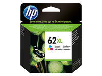 HP 62XL 415pages Cyan, Magenta, Yellow ink cartridge