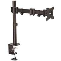 "StarTech.com ARMPIVOTB 27"" Clamp Black flat panel desk mount"