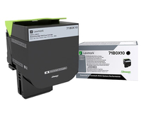 Lexmark 71B0X10 Laser toner 8000pages Black laser toner & cartridge