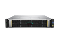 Hewlett Packard Enterprise MSA 2050 SAN DC Power LFF Rack (2U) Zwart, Zilver disk array