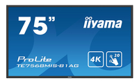 "iiyama ProLite TE7568MIS-B1AG Interactive flat panel 75"" LED 4K Ultra HD Zwart"