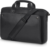 "HP Executive Black Leather 15.6 Top Load 15.6"" Briefcase Black"