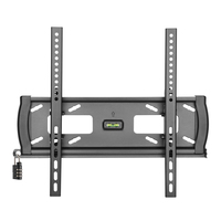 "Tripp Lite DWTSC3255MUL 55"" Black flat panel wall mount"