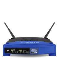 Linksys WRT54GL Fast Ethernet Black,Blue wireless router