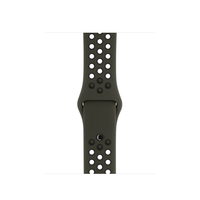 Apple 38mm Cargo Khaki/Black Nike Sport Band – S/M & M/L