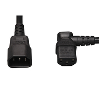 Tripp Lite P004-002-13RA 0.6m C14 coupler C13 coupler Black power cable