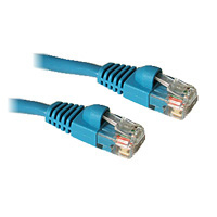C2G 50ft Cat5E 350MHz Snagless Patch Cable Blue 15m Blue networking cable