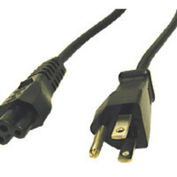C2G 6ft 3-slot 18 AWG Laptop Power Cord (IEC320C5 -> NEMA 5-15P) 1.8m NEMA 5-15P Black power cable
