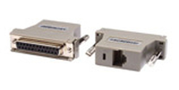 Raritan ASCSDB25F RJ-45 DB25 Grey cable interface/gender adapter