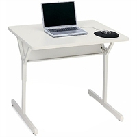 Bretford Rectangle Basic Computer Table Grey computer desk