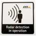 Axis Radar Detection Sticker EN 10PCS Black,White