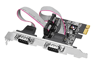 Siig 2-Port RS232 PCIe Сard Internal Serial interface cards/adapter