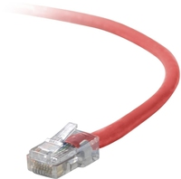 Belkin Cat5e Patch Cable, 6ft, 1 x RJ-45, 1 x RJ-45, Red 1.8m Red networking cable