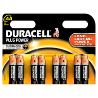 Duracell AA Plus Power batterijen (8 stuks)