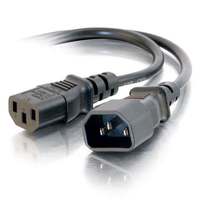 C2G 29964 0.3m C14 coupler C13 coupler Black power cable