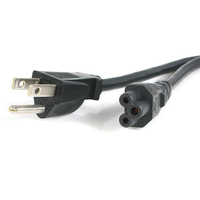 StarTech.com PXT101NB3S10 3.05m NEMA 5-15P C5 coupler Black power cable