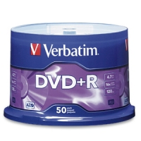 Verbatim 16x DVD+R Media 4.7GB DVD+R 50pcs