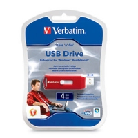 Verbatim 4GB Store 'n' Go 4GB USB 2.0 Type-A Red USB flash drive