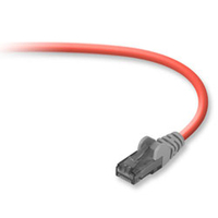 Belkin Cat6 snagless crossover patch cable, 3m 3m Red networking cable