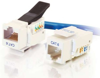 C2G Cat6 RJ45 UTP Toolless Keystone Jack